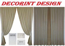 Set 2 draperii DECORINT pe rejansa + 1 cuvertura + 2 fete de pernuta (COD:DRC.03)