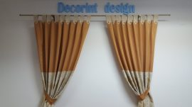 Set 2 draperii DECORINT cu bride (COD:DB.14)