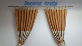 Set 2 draperii DECORINT cu bride (COD:DB.14)